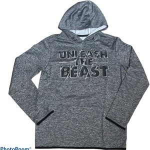 """Old Navy Boy's """"Unleash The Beast"""" Hoodie Size XL"""
